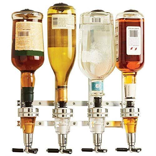panthem Spender für 4 Flaschen zur Wandmontage, für Spirituosen, Bar Butler, Getränkespender für Zuhause und Kneipe.