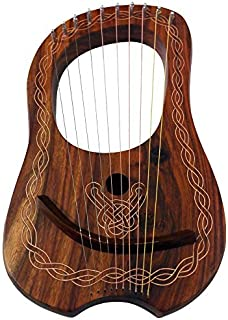 Brand New Lyre Harp 10 String Rose wood with Carrying Case & Tuning Key