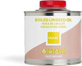 Uulki aceite de linaza cocido hervido natural para madera interior y exterior, meubles, hormigón, encimeras, piedra, metal...
