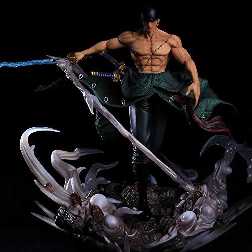 YSKCSRY One Piece Three Swordsman Doble Head Dream Big Sauron Statue Scene Modelo en Caja Anime Figura Decoración Estatua Modelo Colección Toy Altura 29 cm (11.4in)