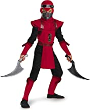 Shadow Ninjas Night Fury Red Viper Ninja Deluxe Boys Costume, 7-8