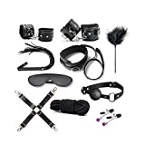 GHD D 10pcs Juguete par Juguetes Sexy Esposas Corbata de Cuero Vinculante Set/Negro