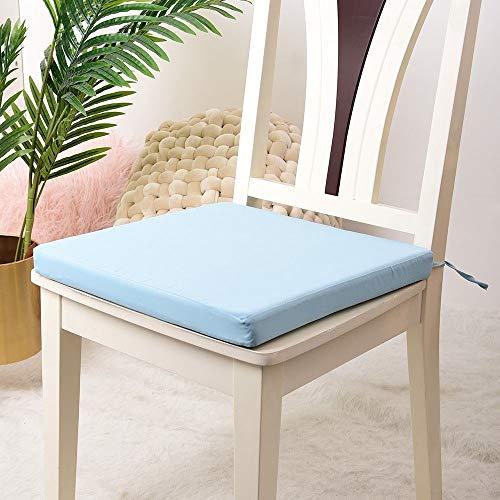 DFGH Garten Kissen, Haushalt Kissen, weicher Schwamm hohe elastische Baumwollkissen, Büro Studentenstuhlkissen, Stuhl Kissen (Color : Blue)
