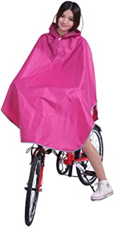 RFJJAL Rain Jacket Poncho Hoodie Raincoat Shawl Outdoor Bicycle Motorcycle Scooter (Color : Purple, Size : XXXL)