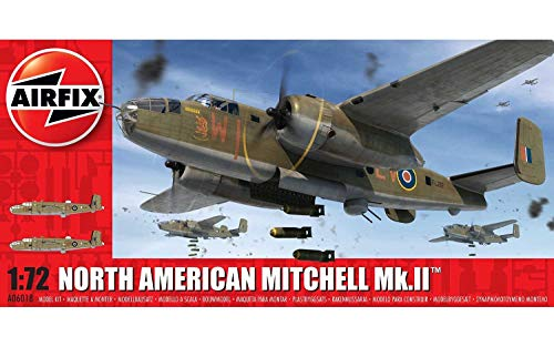 Airfix-1/72 North American Mitchell MK.II Model, Color Gris