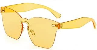MINCL/One Piece PC Lens Rimless Ultra-Bold Colorful Mono Block Sunglasses 62mm