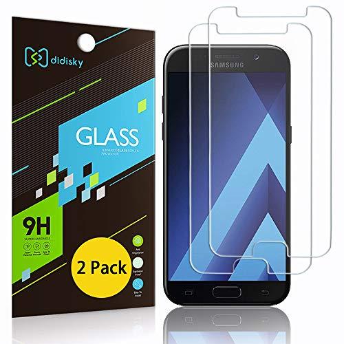 Didisky Pellicola Protettiva in Vetro Temperato per Samsung Galaxy A5 2017, [2 Pezzi] Protezione Schermo [Tocco Morbido ] Facile da Pulire, Trasparente