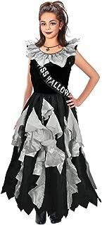 Bristol Novelty CC179 Zombie Prom Queen Costume, Grey, Medium, 122 - 134 cm, Approx Age 5 - 7 Years, Zombie Prom Queen