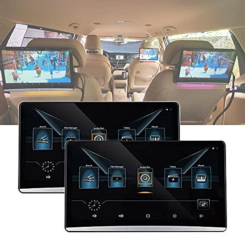 Reproductores De Reposacabezas De Coche De 12,5 Pulgadas, IPS 1080P Reproductor De Video con Pantalla TáCtil Android 9.0 4K HD Video WiFi BT USB SD HDMI FM MP5 Reproductor De Video, 2Pcs