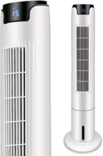 43 Inch Oscillating Tower Cooling Fan Humidification Remote Control Tower Fan 55W Motor with Cooling System 12H Timer Blad...
