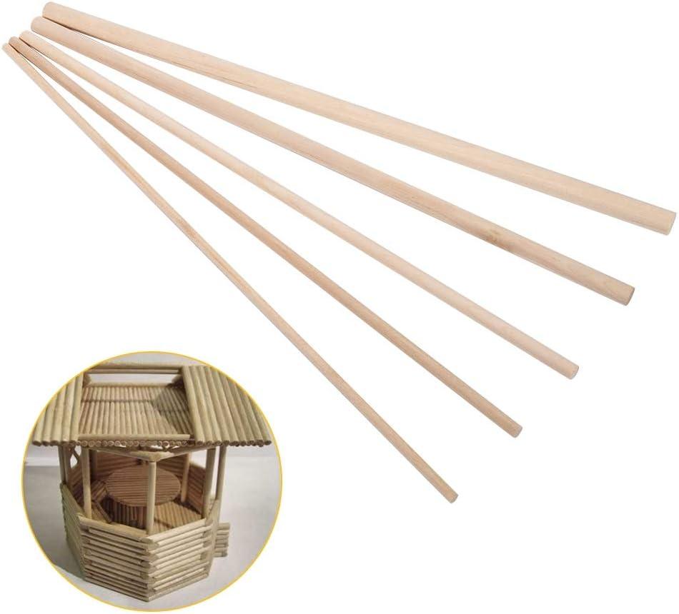 10pcs 30cm de largo Palos de madera Palos de bricolaje Artes de madera Palos de artesan/ía Pasadores Varillas de poste /Árboles dulces Herramienta de madera para mesa de arena Modelo 3MM*30CM