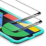 ESR Full-Screen Schutzfolie kompatibel mit Google Pixel 4 Panzerglas - Bildschirm Schutzfolie HD Hartglas Folie [2 Stück] mit praktischem Montagerahmen für Google Pixel 4.