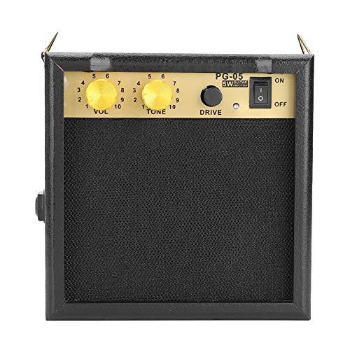 Fafeims gitaarluidspreker, PG-05 5W DC 9V E-gitaarversterker versterker met volume