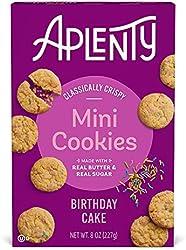 Aplenty, Birthday Cake Mini Cookies, 8 oz