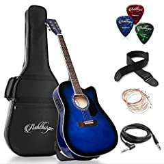 INCREDIBLE SOUND - Perfect for musicians-in-the-making or advanced players, this guitar features an impressive tone, standout projection and incredible sonics. It's waiting to be heard. FINE HARDWOOD CONSTRUCTION - Guitar is made from X-braced, A-gra...