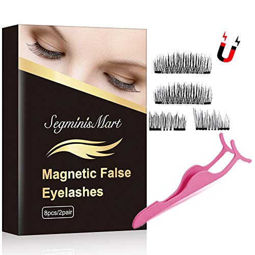Magnetische Wimpern,3D Magnet Künstliche Wimpern Set,Kein KlebstoffWiederverwendbare Falsche...
