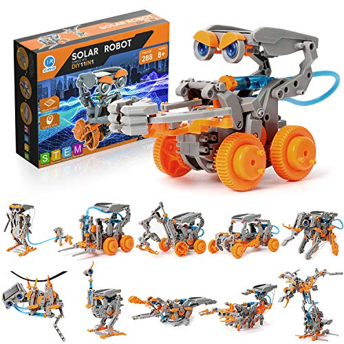 CIRO STEM Projects for Kids 11-in-1 Solar Robot Toys Animals and Robotic Kingdom Education Science Experiment Kits for Kids Ages 8-12, 190 Pieces Building Set Birthday Gift for Boys Girls