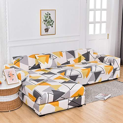 ASCV Fundas de sofá de Esquina para Sala de Estar Fundas elásticas para sofá Funda de sofá elástica Toalla en Forma de L Chaise Longue A1 3 plazas