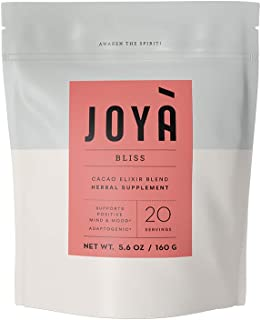 JOYÀ Cacao Bliss Adaptogenic Elixir Blend, 20 Servings/5.6 oz, Adaptogen Supplement, Healthy Hot Chocolate & Superfood Powder with Reishi Mushroom, Maca & Mucuna, Sleep & Immune Support