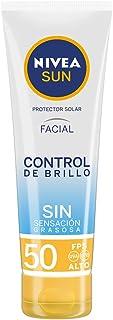 Nivea Sun Protector Solar Facial Control De Brillo Fps 50+, 50ml