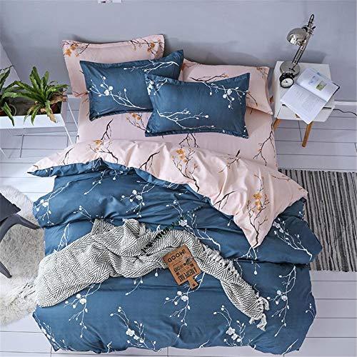HPDX Flower Bedding Set Soft Duvet Cover With Pillowcase Girls Teen/Adult Quilt Cover Set (EU King 220x230cm)