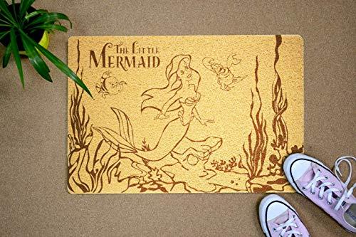 StarlingShop Felpudo de la Sirenita La Sirenita Felpudo, felpudo de Disney Hi Indoor, respetuoso con el medio ambiente, decoración al aire libre, regalo de cumpleaños