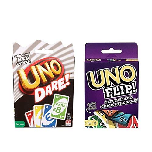 UNO Dare Bundle with UNO Flip,Now UNO Card Game,Perfect Combo of UNO Original Card Game