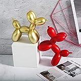 GNZM Escultura Figuras DecoracionSimulación Linda Moderna Globo Rosa decoración de Perro Sala de Estar Dormitorio habitación de niños Decoraciones de gabinete de TV pequeño Adorno Rojo
