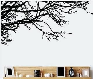 TRURENDI Stunning Tree Branch Removable Wall Art Sticker Vinyl Decal Mural Home Decor (DESIGN 1, 1) OneSize, Black