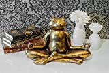 Pajoma Dekofigur Yoga Frosch Relax, Plastik, Gold 29.5 x 14.5 x 20.5 cm - 3