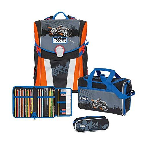 Scout Sunny Schulrucksack Set 4 TLG. Dark Ninja