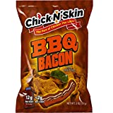 Chick N' Skin Fried Chicken Skins - BBQ Bacon Flavor (4Pack) | Keto Friendly Low Carb High Protein Snacks, Light & Crispy, Gluten Free, No MSG, Made with Organic Chicken 2oz.