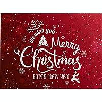 4ピースのクリスマスプレースマット、クリスマスパーティー、冬休み、結婚式のディナーデコレーション用の洗えるプレースマット,T