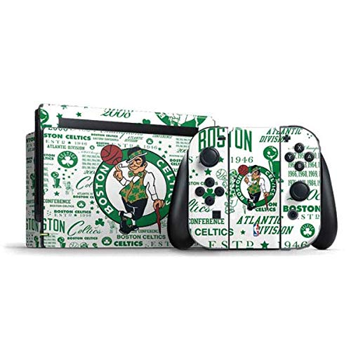 Skinit Decal Gaming Skin Compatible with Nintendo Switch Bundle - Officially Licensed NBA Boston Celtics Historic Blast Design