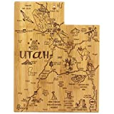 Totally Bamboo Utah State Destination Bamboo Serving and Cutting Board