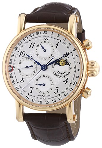 Chronoswiss Herren Chronograph Mechanik Uhr mit Sonstige Materialien Armband 7541RL Brown