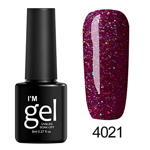 Hffan 31 Colours UV Nail Polish Gel Polish Colours Set Nail Gel Nail Art Polish Soak Off UV Gel