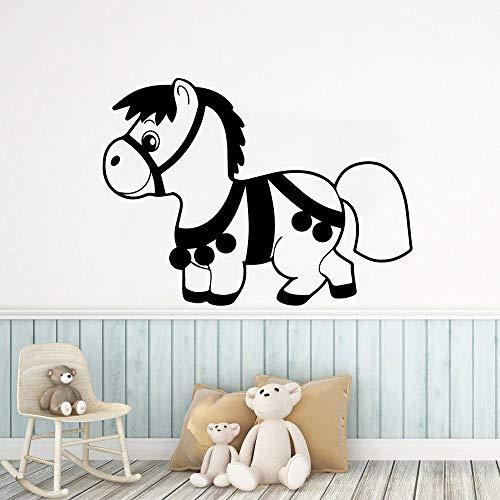 Tianpengyuanshuai Muursticker met paard moderne kunst voor de woonkamer of op kantoor