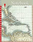 Notebook: 1803, Cary Map of Florida, Central America, the Bahamas, and the West Indies, John Cary, 1754 – 1835, English cartographer