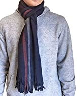 A classic vertical stripe men's winter scarf Soft and warm with fringed edge Measures 180 x 25 cm Machine washable at 30 degrees The perfect gift for any man