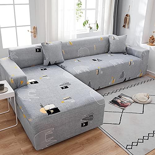 WXQY Hochelastischer Sofabezug modischer moderner Verstellbarer Wohnzimmersofabezug Rutschfester Sofabezug Couchbezug A3 1 Sitzer