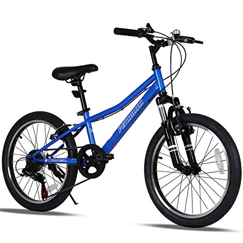 Petimini 20 Inch Kids Mountain Bike for Boys Bike 5 6 7 8 9 Years Old Youth Bicycle White Blue
