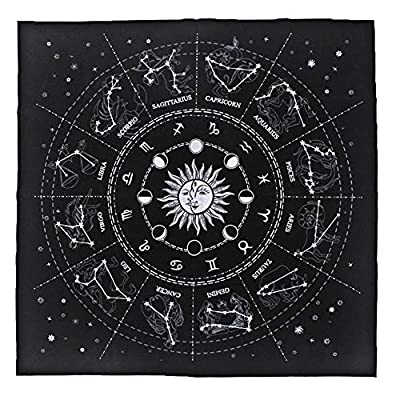 Hippolya Altar Tarot Card Cloth Tablecloth 12 Constellations Tablecloth Astrology Tarot Divination Cards Table Cloth Tapestry