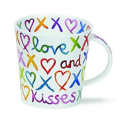 DUNOON Bone China beker Love, Hugs und Kisses Oxo mok Lomond Made in Engelland? Perfect voor mama, Auntie, Oma, Nanna.