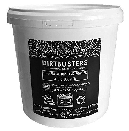 Dirtbusters Non Caustic Commercial Dip Tank En Ontvetten Poeder decarboniser 5 kilo professionele sterkte product om vet en vet te verwijderen uit ovens filters extractoren gebruiksvoorwerpen potten pannen, aluminium veilig, zoals gebruikt door professionele schoonmaakbedrijven