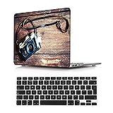 NEWCENT MacBook Air 13' Funda,Plástico Ultra Delgado Ligero Cáscara Cubierta EU Teclado Cubierta para Antigua MacBook Air 13 Pulgadas 2010-2017 Versión(Modelo:A1466/A1369),Grano Madera A 174
