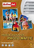 Activejet - Laser premium matte photo a4 mate color blanco - papel fotográfico...