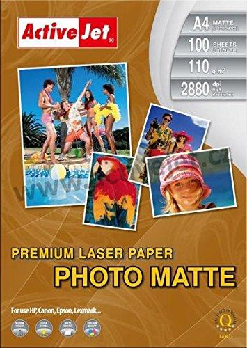 Papel Fotografico A4 Laser Marca ActiveJet