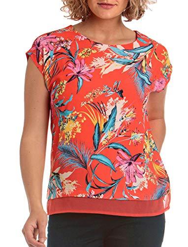 Punto Roma Camiseta Mujer Estampada Rojo Coral Talla Pequeña (P)