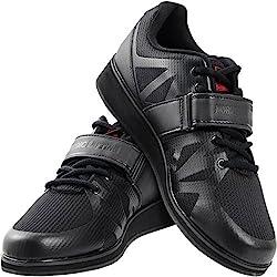 top 10 lifting shoes Nordic Lifting Weightlifting Powerlifting Shoes-Men's Squat Shoes-MEGIN (Black, 11 USA)